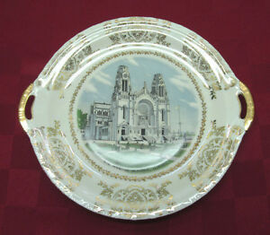 Very rare collectible vintage plate ste anne de beaupre quebec made
