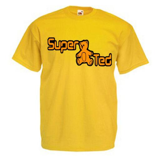 Super Ted Children/'s Kids T Shirt