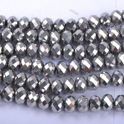 Top Quality Czech Glass Faceted Rondelle Spacer Beads Choose 6X4MM, 8X6MM 10X8MM