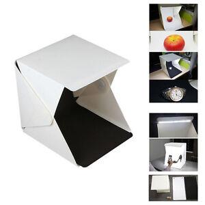 """Portable Folding 9"""" Mini Lightbox Studio LED Photo Shoot Box for Smartphone DSLR"""