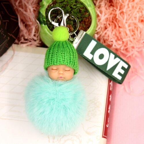 Schlafendes Baby Puppe Plüsch Schlüsselanhänger niedliche Ringschnalle 2018