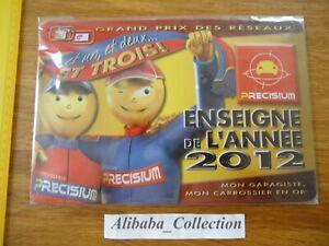 Raro-Placa-Chapa-Precisium-2012-Garage-Carroceria-Coche-Publicidad-No-Esmaltados