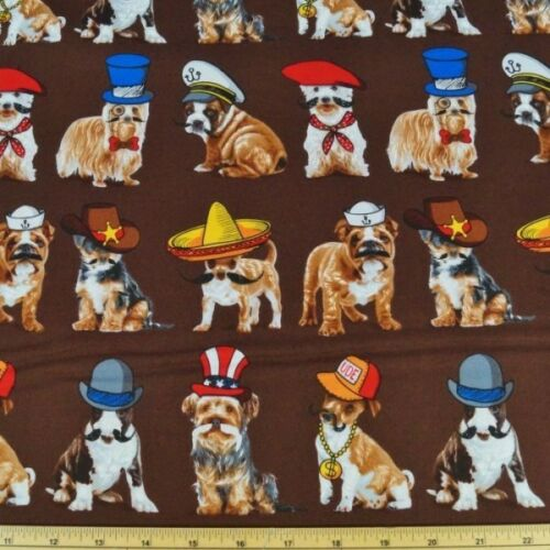 Quién es tu perrito Fancy Dress Perros 100/% Algodón Tejido