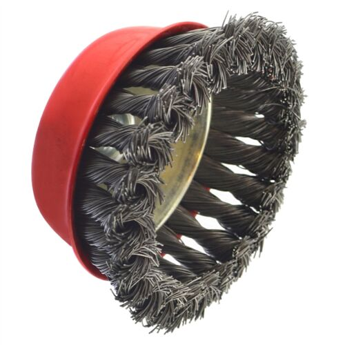 """150mm Wire Cup Brush Wheel for 7/"""" or 9/"""" Angle Grinder Twist Knot"""