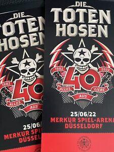 Die Toten Hosen Düsseldorf Ticket Innenraum 25.06.2022