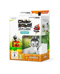 Chibi-Robo-Zip-Lash-Amiibo-Bundle-Pack-Nintendo-3-DS-2-DS-Brand-New-dans-Box