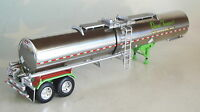 Dcp Chrome Lime Green Tank Trailer Only 1/64 Diecast 33151