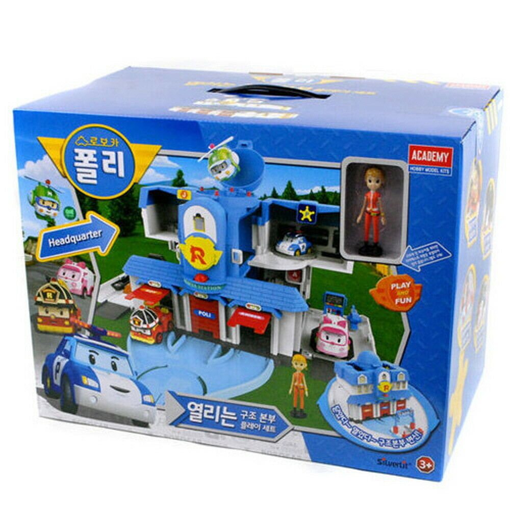 RoboCar Poli Congreenible Headquarter Rescue Station Playset ACADEMY S83304