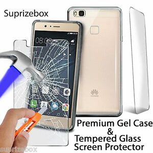 Ultra-Thin-Clear-Gel-Case-Cover-Tempered-Glass-Screen-Protector-For-Huawei-Phone
