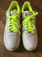 Brand New Nike Air Force 1 Beige And Neon Yellow . Size 14