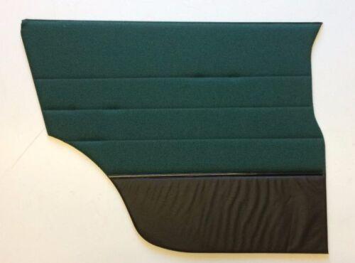 Classic Mini Door Card ENB101670HBY Rear L//H Black Leather//Black//Green Fab