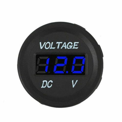 DC 12V-24V Car Motorcycle LED Panel Digital Voltage Display Voltmeter US A0P9
