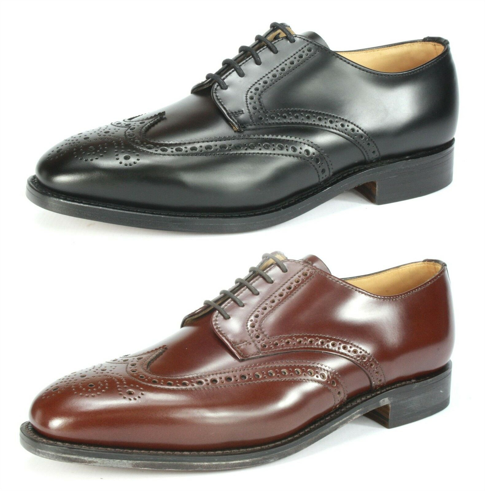 Charles Horrel Handmade in England Welted Wingtip Mens Brogue Leather Sole shoes