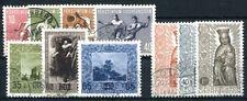 LIECHTENSTEIN 1954 322-331 gestempelt JAHRGANG 160€(A9272