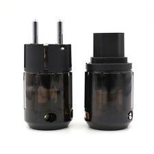 ONe pair P-004E Platinum Plated EU Power plug C-004 IEC Connect DIY Cable
