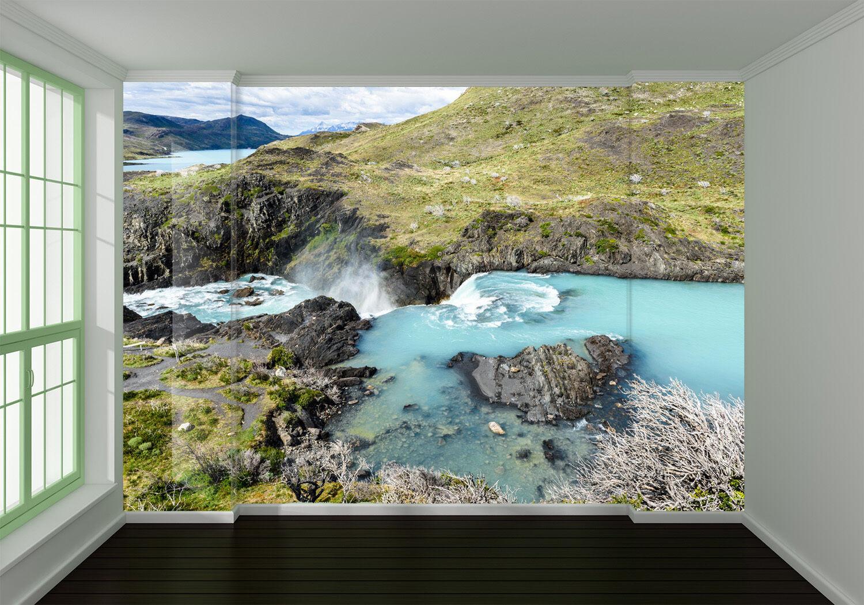 3D landscape river mountain Wall Paper Wall Print Decal Wall AJ WALLPAPER CA
