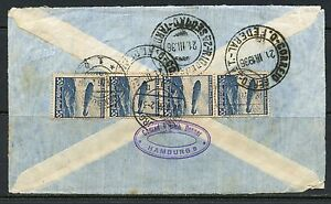 GERMANY-ZEPPELIN-SOUTH-AMERICA-FLIGHT-BACK-OF-COVER-HAMBURG-TO-BRAZIL-1936