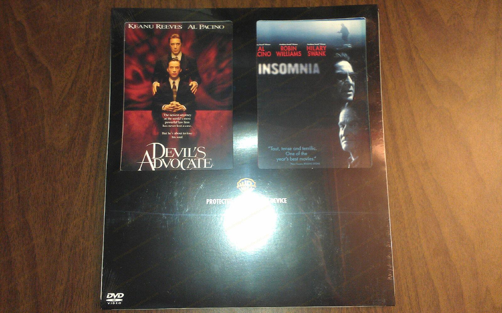 Devil's Advocate & Insomnia DVD Movies 2 Movie Set NEW 1