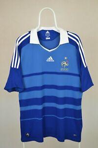 Maillot equipe de france 2008 2009 adidas vintage shirt jersey maglia home Sz XL