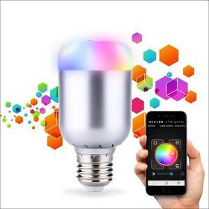 Ampoule-d-039-ambiance-LED-Bluetooth-4-0-Ampoule-connectee-Norme-E27-6W