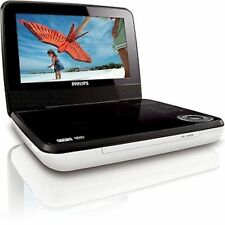 """Philips PET741W/37 White/Black Widescreen 7"""" LCD Car/Home Portable DVD Player -C"""