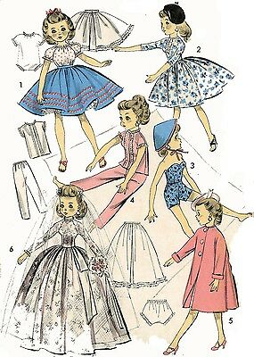 Doll Clothes Pattern 8453 for Revlon Toni Sophisticate Cindy dolls 18""