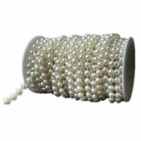 Flowers By Roll Beads Pearls Faux Crystal Large Ivory Garland 10mm 22 Yards Long