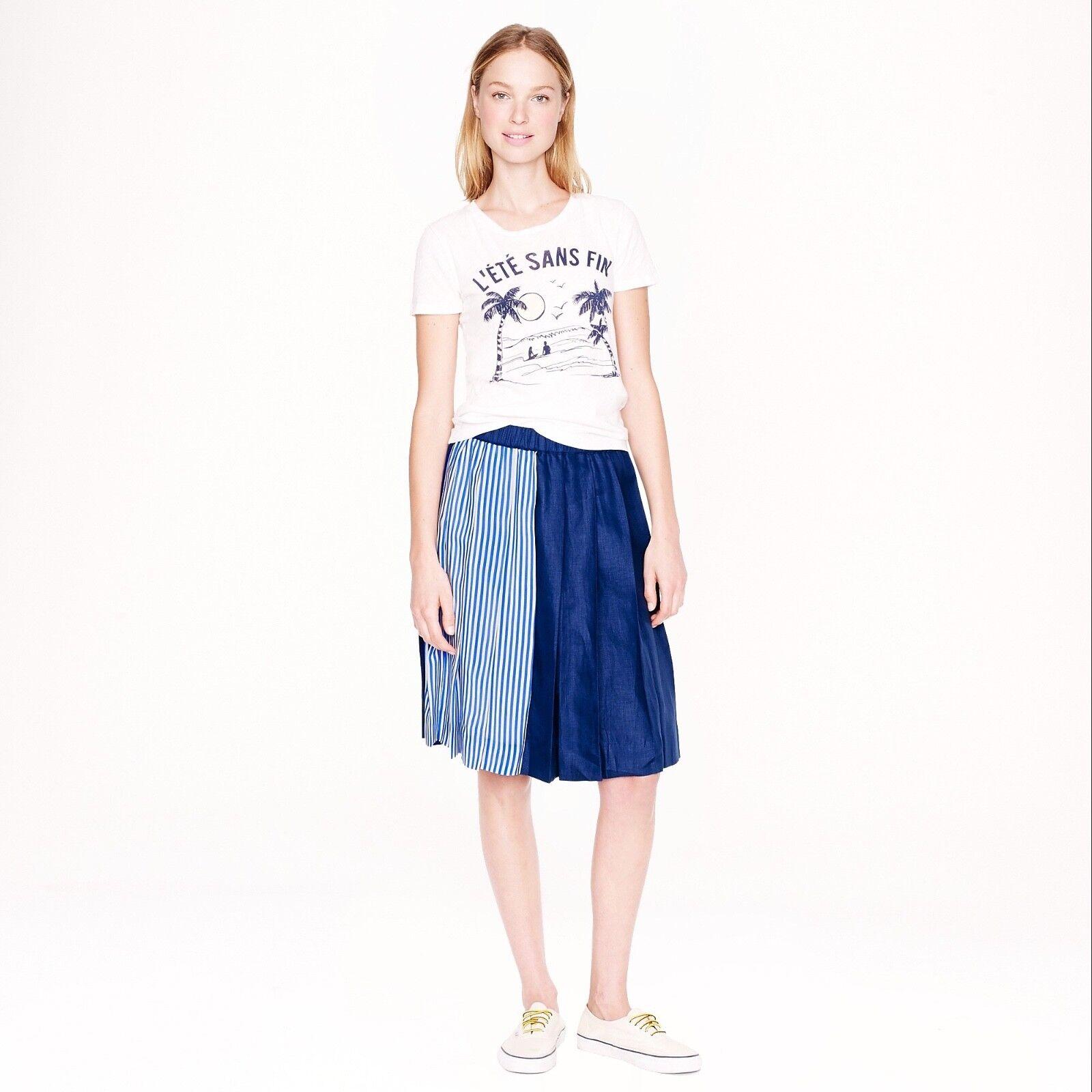 NWT J CREW COLLECTION  stripe mix skirt, Größe 4,  168
