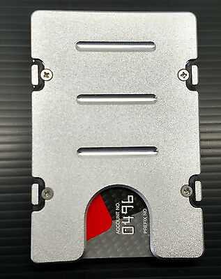 Black Anodized RFID Protection Mens Aluminum Credit Card Holder Wallet