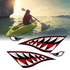 Alemon Shark teeth Mouth Reflective Decals Sticker Car 2 Canoe Fishing B4E0 D1D2