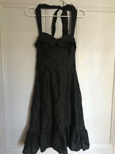 KAREN WALKER mainline schwarz silk 100% dress us 6 Größe 8 10  perfect
