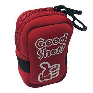 Golf Range Finder Tasche Fall Protector Doppel Reiß verschluss Zubehör Rot