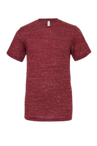 Bella+Canvas BE119 Mens PolyCotton Short Sleeves Crew Neck T-shirt Tshirt Unisex
