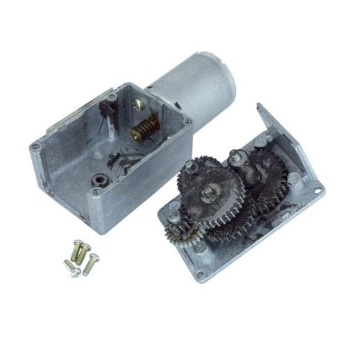 370 Worm Gear Motor 12V DC Self-locking Turbo Worm Metal Gearbox Small Motor