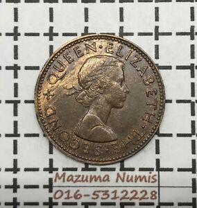 Mazuma *FC46 New Zealand QE II 1958 Half Penny AUNC BN