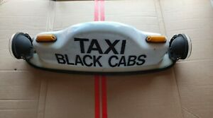 TAXI-BLACK-CAB-TOP-HAT-Ford-Holden-Toyota-Mazda-Vintage