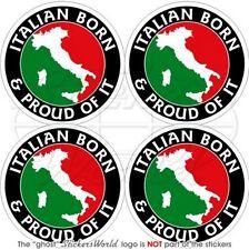 ITALIEN Italiensch Geboren & Stolz ITALIA 50mm Aufkleber x4 Stickers Decals