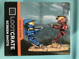 LOOT-CRATE-HALO-ICONS-RED-V-BLUE-SCREEN-SHOTS-SPARTAN-WARZONE-FIGURE-STATUE-1