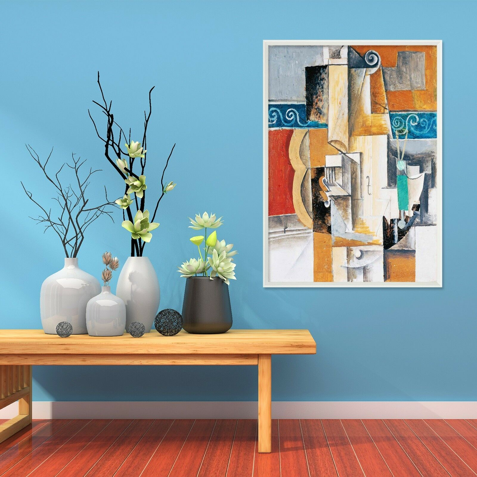 3D Picasso Abstrait 5 Framed Poster Home Decor imprimer peinture art AJ UK