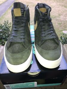 detailed look d555e b2b53 Details about Nike SB Zoom Blazer Mid QS x We Club 58 Sequoia/Gold Sz. 12  VNDS Great Condition