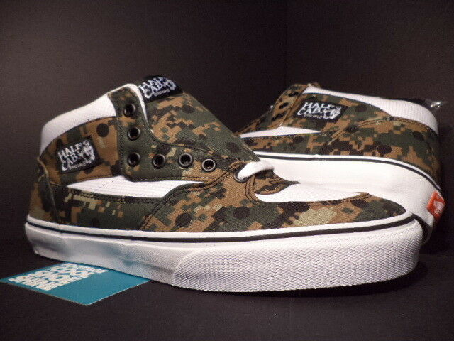 7563fe88b4c8 Vans Half CAB Pro Supreme CDG Comme Des GARCONS Digi Camo Olive Green Brown  10.5 for sale online