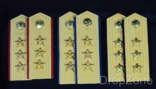 blu Navy Force Officer Chinese Senior Army rosso Shoulder nero Army Pair Air Rank Epaulettes Force RqwEBx7ff