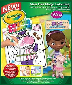 Crayola Color Colour Wonder Mess Free Pad Book 18 Pages Doc