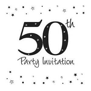 age 50 50th birthday party invitations envelopes boy male girl