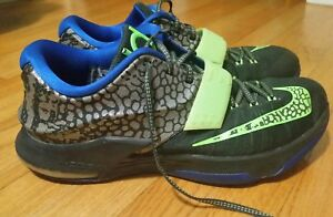 cf096503a34f Nike KD 7 VII Electric Eel Metallic Kevin Durant Pewter Flash Lime ...