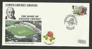 GB 1994 SUMMERTIME LORD'S CRICKET GROUND FDC Lancashire Pictorial Postmark