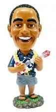 "NEW Hawaiian Dashboard Bobble Head Doll ~ PRESIDENT OBAMA W/ UKULELE 4"" #40668"