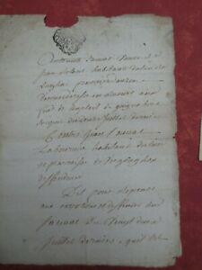 Très Ancienne Lettre Daté Du 20 Août 1762 Rare (cachet D'auvergne )