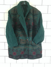 WOMENS URBAN VINTAGE RETRO AZTEC TRIBAL OVERSIZED NAVAJO JACKET COAT SIZE UK 20