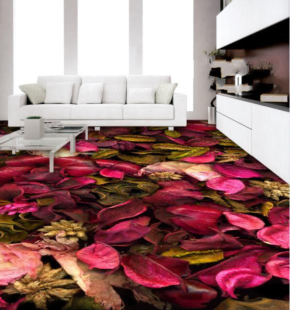 3D rot Petals Leaf 674 Floor WallPaper Murals Wall Print Decal AJ WALLPAPER US